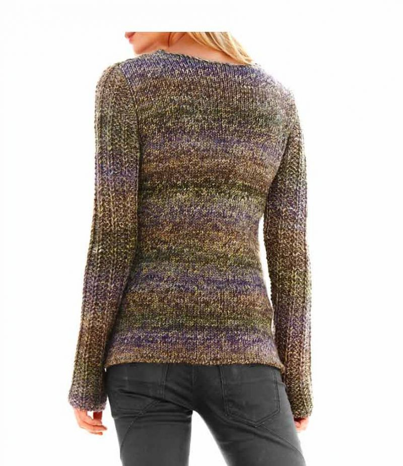 Best Connections - Pullover mit Wolle, lila-bunt